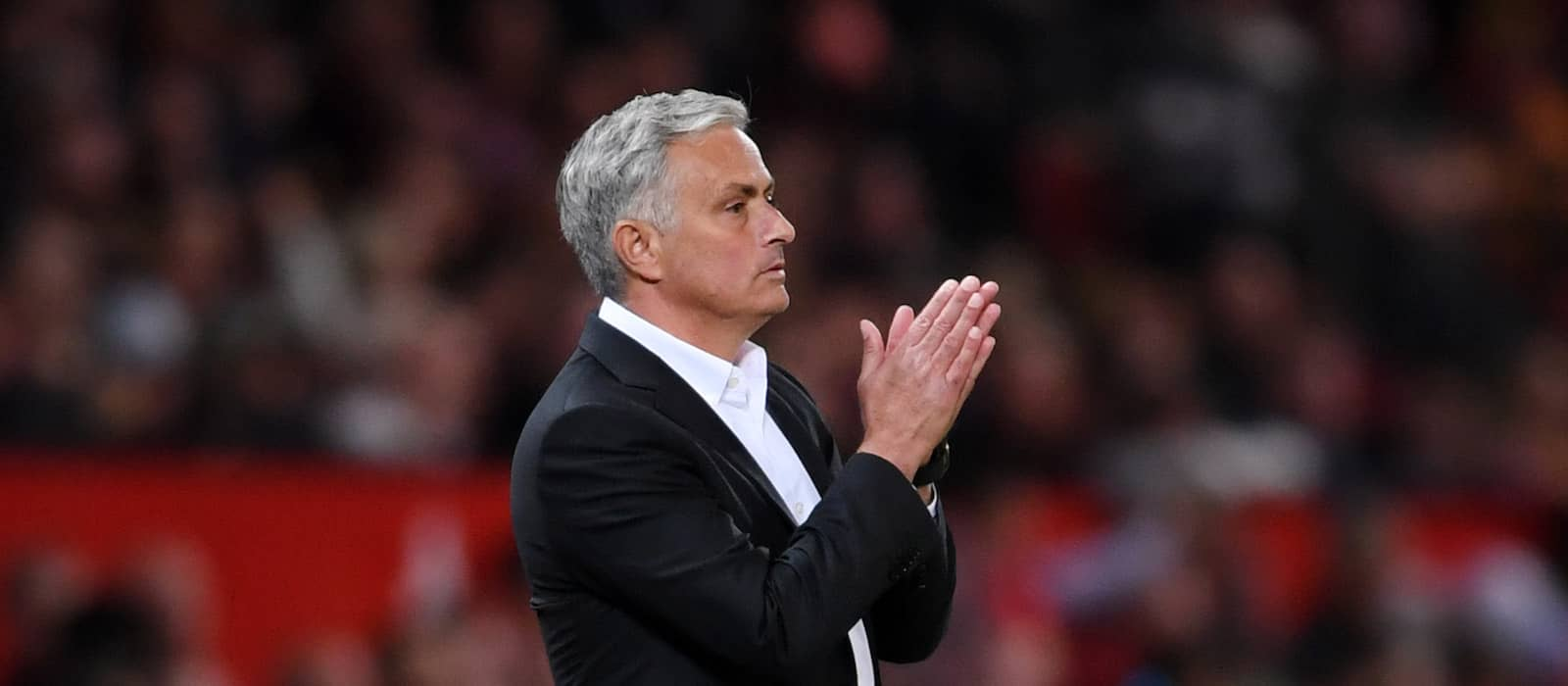 Video: Mourinho with unusual gesture at Old Trafford towards Manchester United fans