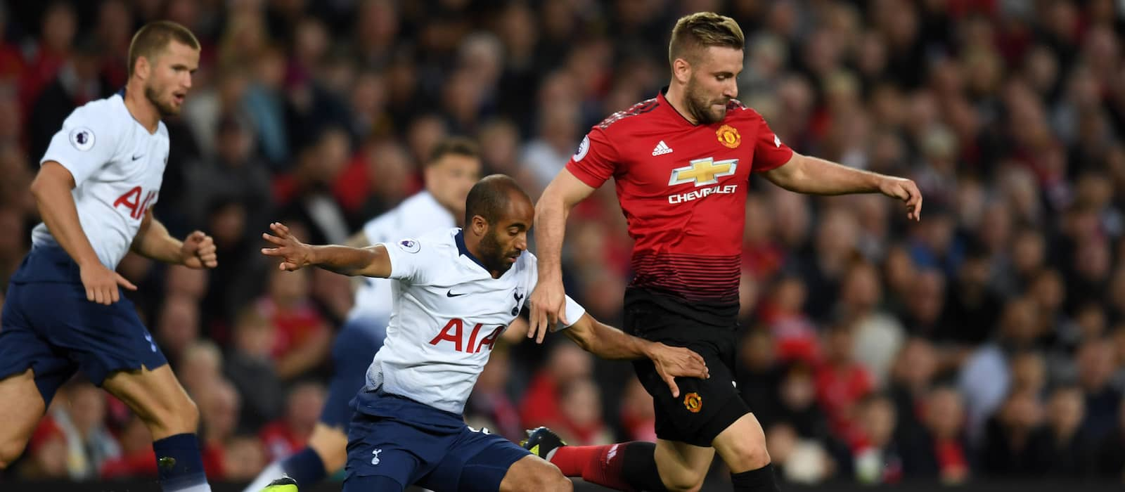 Manchester United's Luke Shaw puts in a top shift vs Tottenham Hotspurs