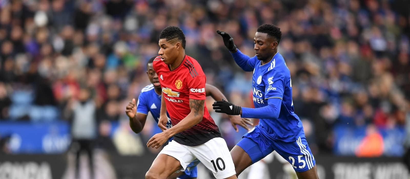 Manchester United fans enjoying telepathic Paul Pogba and Marcus Rashford vs Leicester