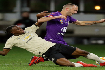 Aaron Wan-Bissaka produces indomitable defensive performance in first Manchester United appearance