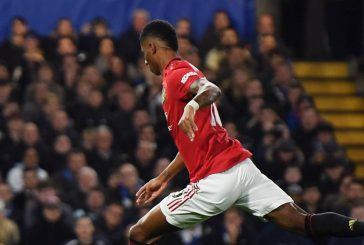 Manchester United fans stunned by glorious free-kick from Marcus Rashford