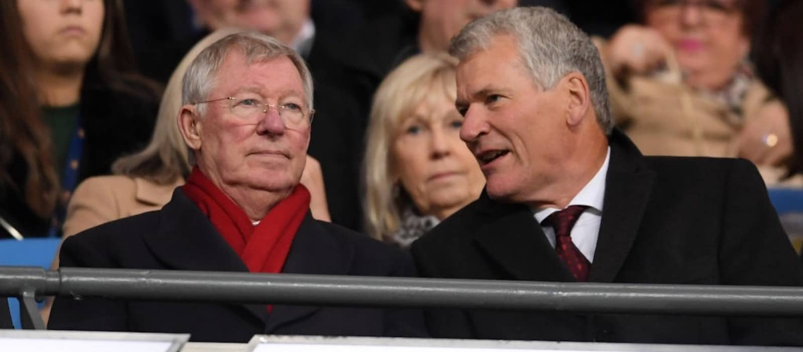 Photo: Sir Alex Ferguson beaming at Ole Gunnar Solskjaer after brilliant Manchester United win at the Etihad