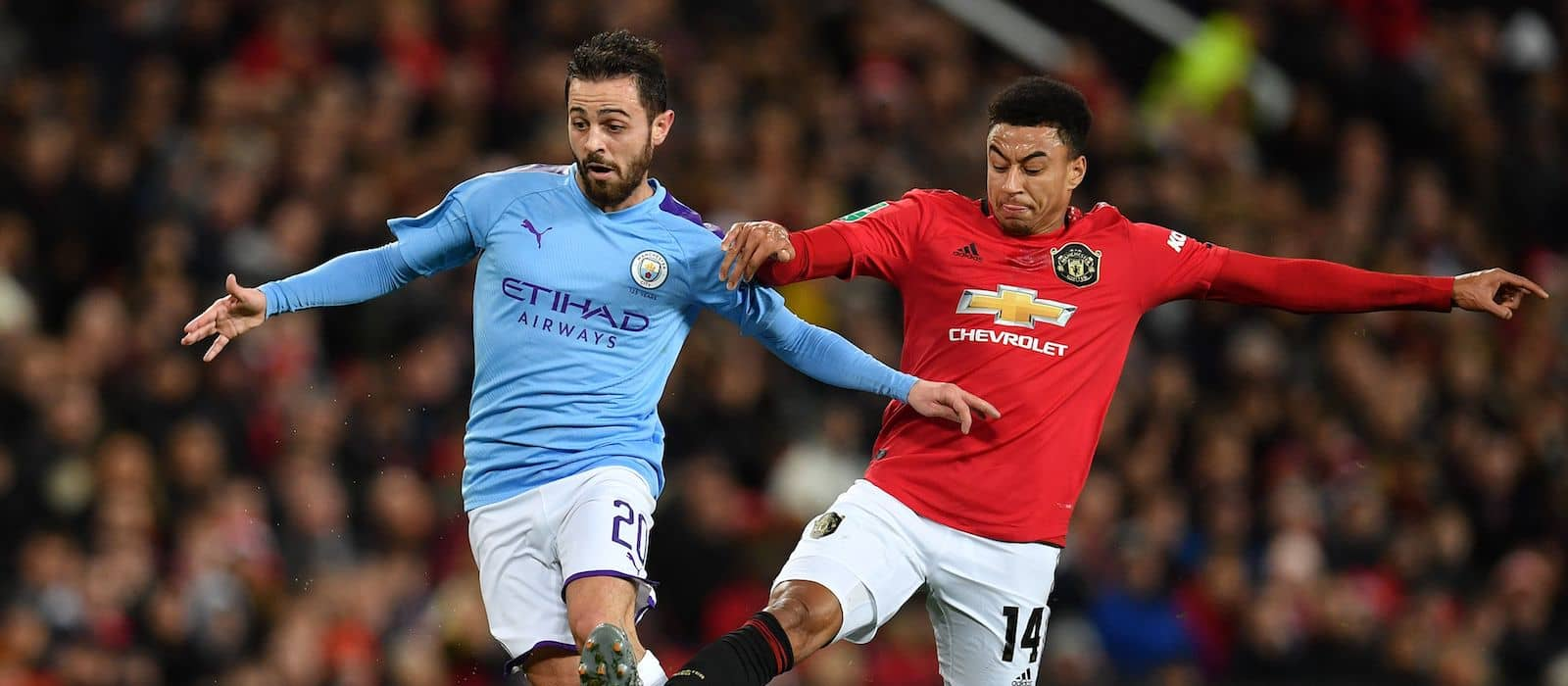 Manchester United supporters loose their rag with Jesse Lingard against Manchester City