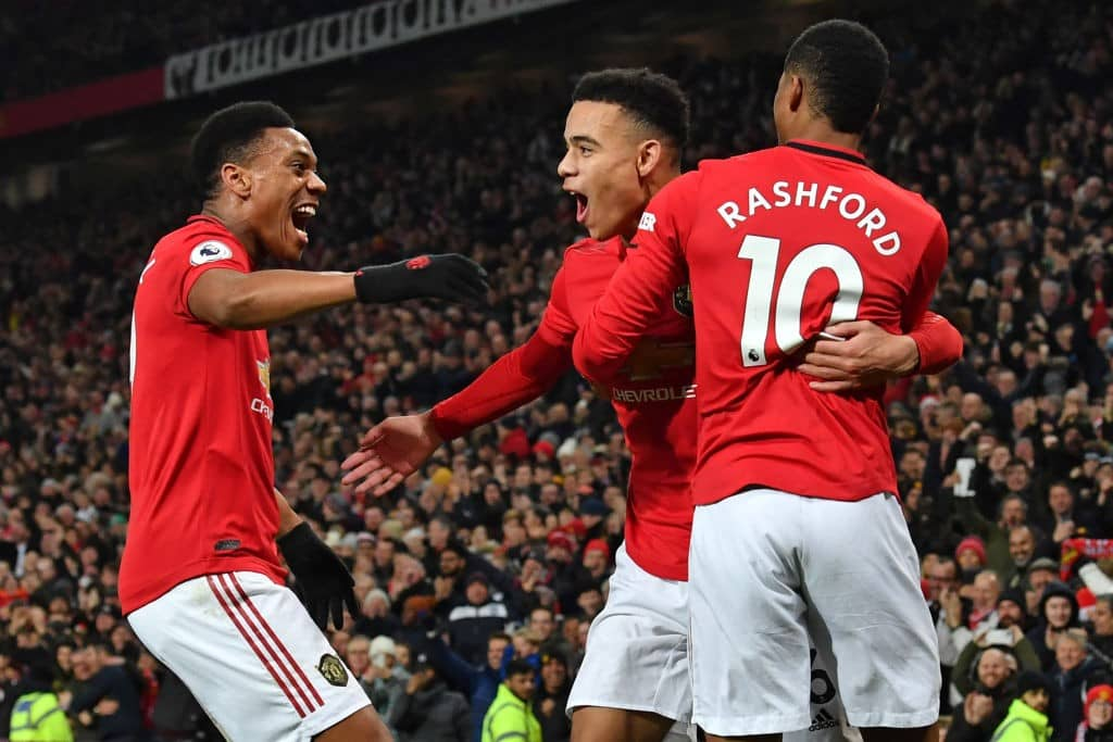 Manchester United's front three outscoring Liverpool's strike force this season