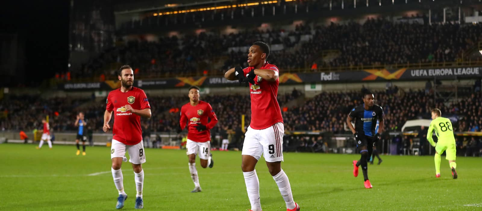 Anthony Martial sacrificed as Man United held to draw in Belgium