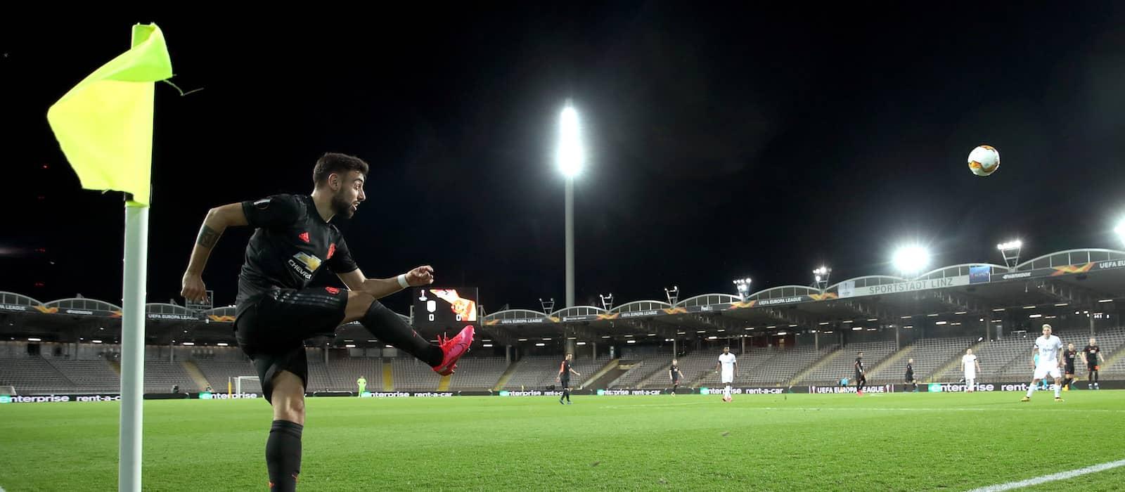 Video: Manchester United star Bruno Fernandes scores stunning volley in training