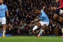 Man United fans in fine voice ridiculing Raheem Sterling transfer rumours