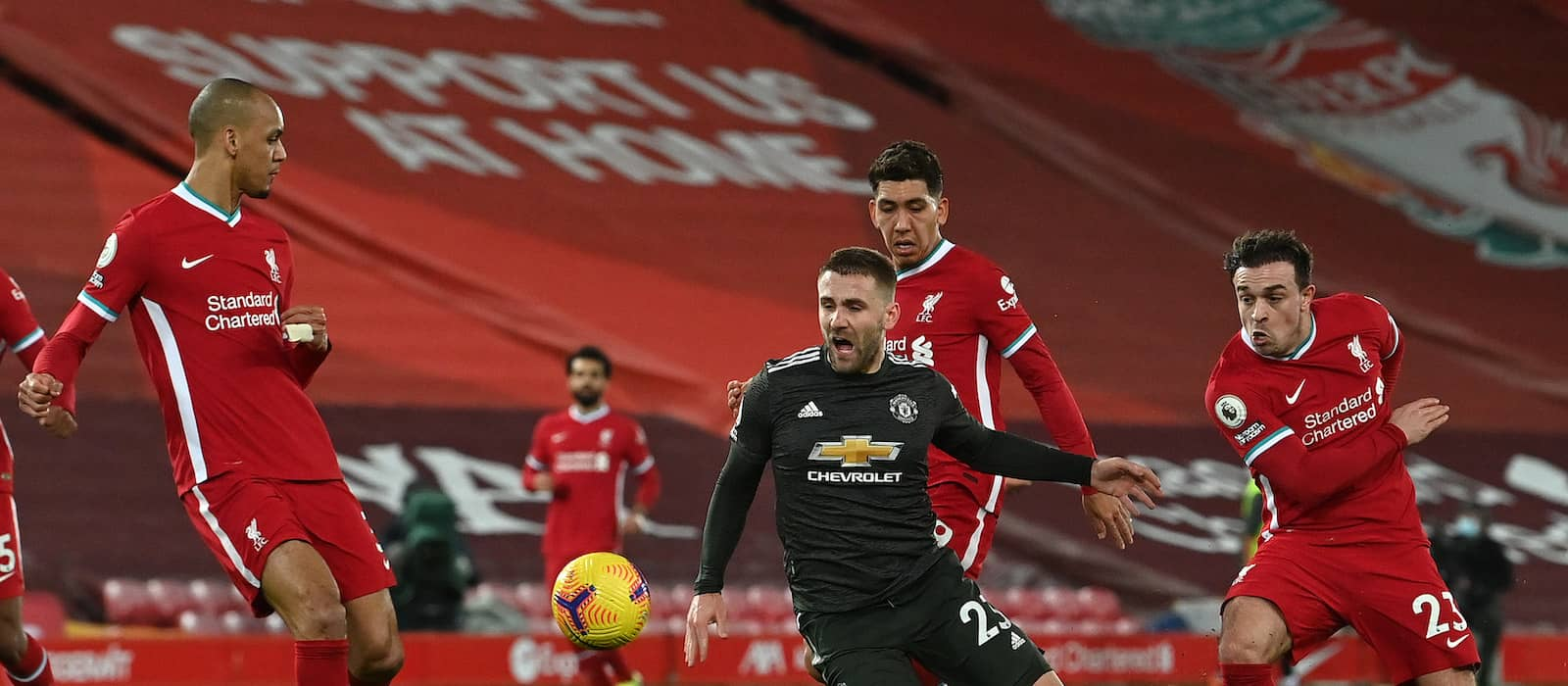 Manchester United fans react to Luke Shaw's performance vs Liverpool
