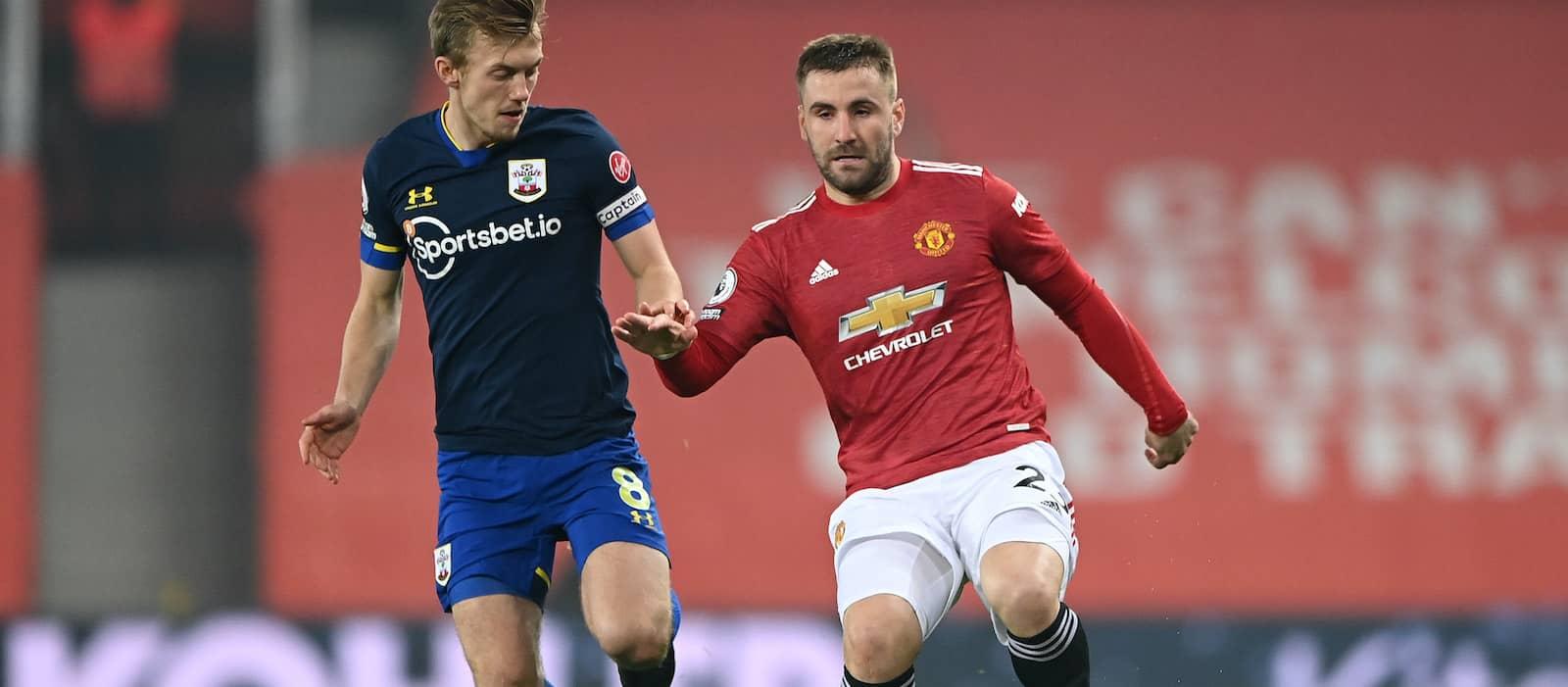 Luke Shaw's statistics show his brilliance vs Southampton