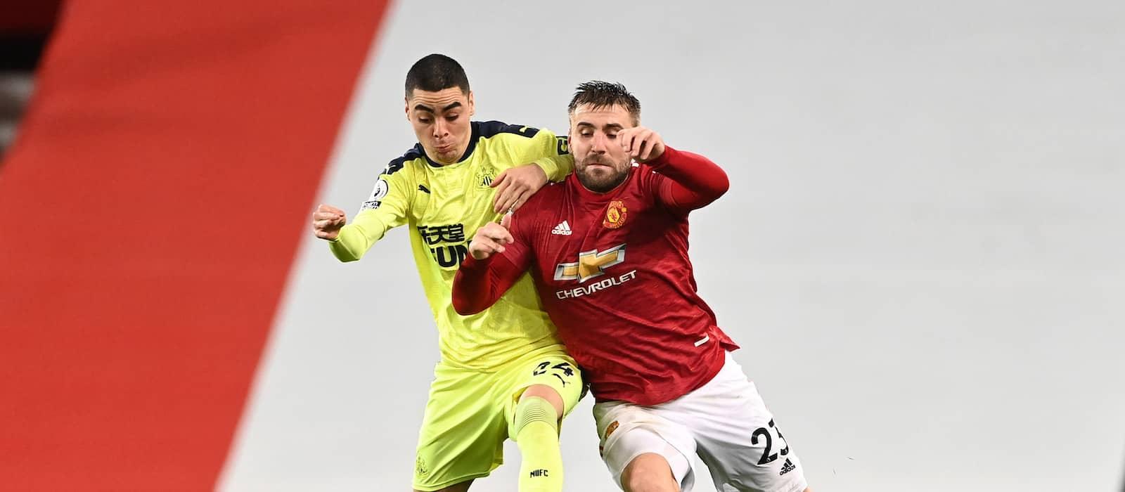 Luke Shaw puts in creative display vs Newcastle United