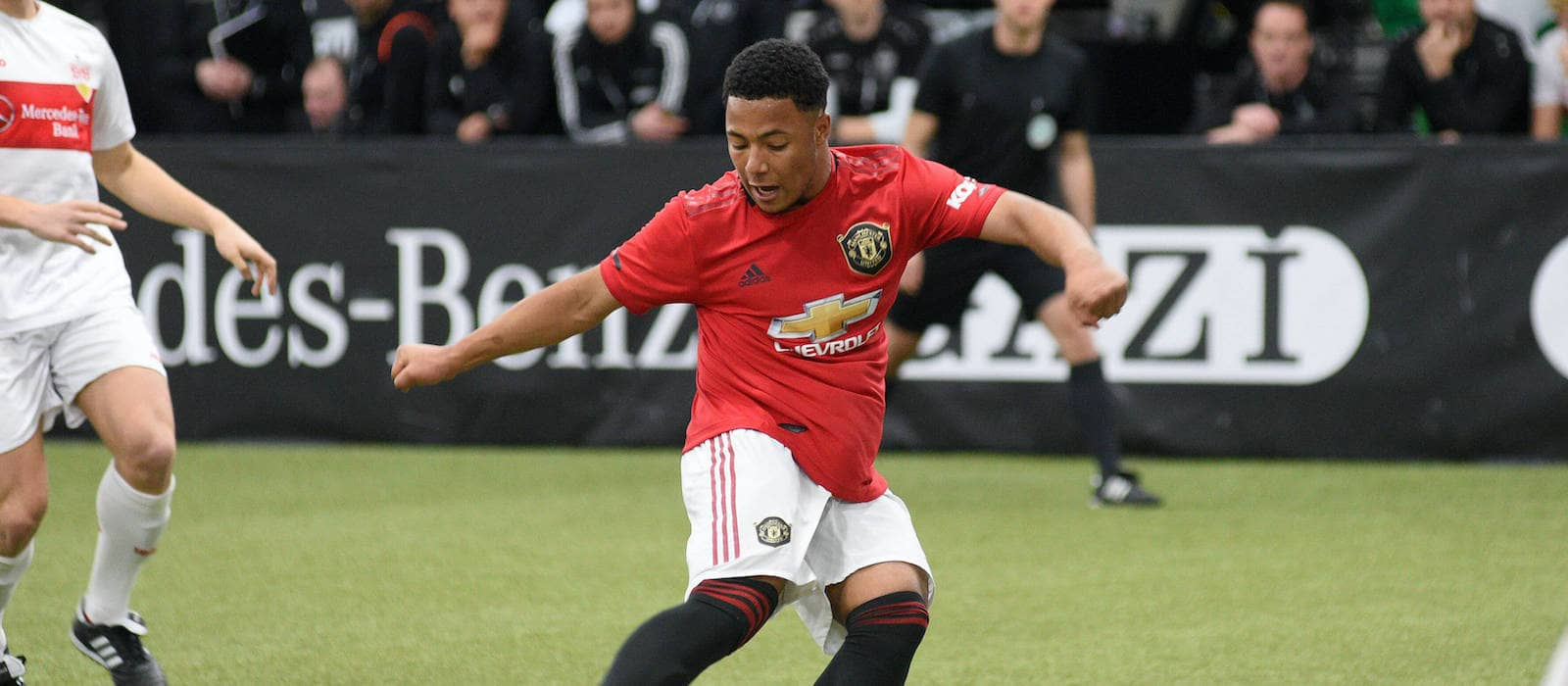 United wonderkid hits a superb hat-trick as Under 18s overwhelm Stoke